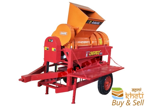 Multicrop thresher hopper tractor